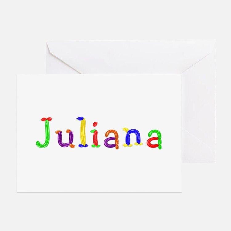 Juliana Balloons Greeting Card