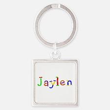 Jaylen Balloons Square Keychain
