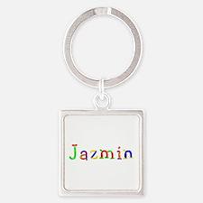 Jazmin Balloons Square Keychain