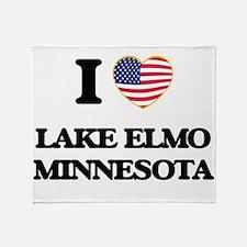 I love Lake Elmo Minnesota Throw Blanket