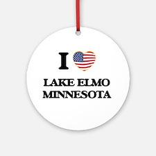 I love Lake Elmo Minnesota Ornament (Round)