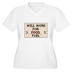 FUEL PRICE HUMOR Women's Plus Size V-Neck T-Shirt