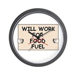 FUEL PRICE HUMOR Wall Clock