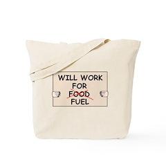 FUEL PRICE HUMOR Tote Bag