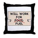 FUEL PRICE HUMOR Throw Pillow