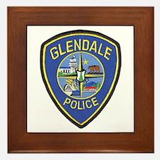 Glendale Police Framed Tile