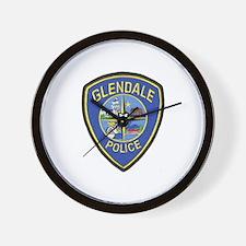 Glendale Police Wall Clock