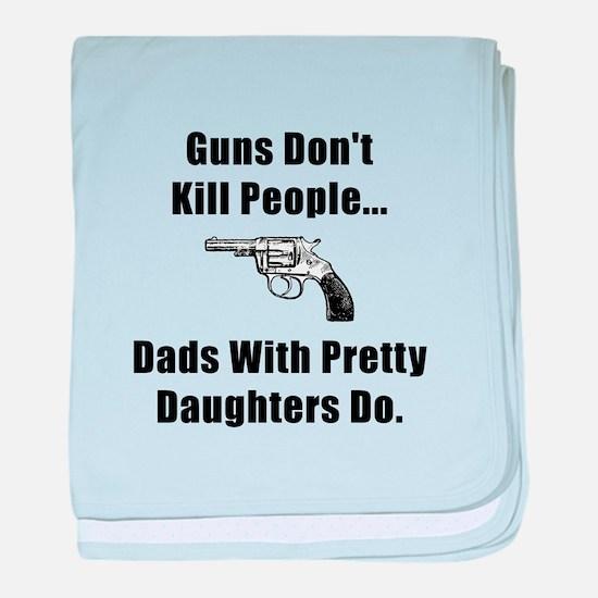 Dad Gun baby blanket