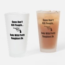 Dad Gun Drinking Glass