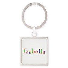 Izabella Balloons Square Keychain