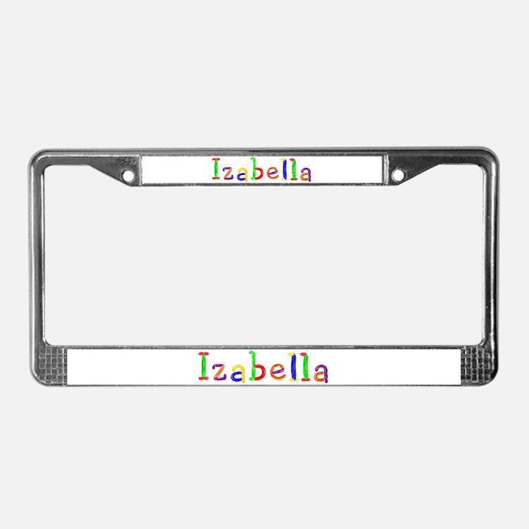 Izabella Balloons License Plate Frame