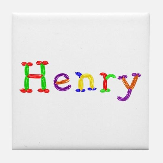 Henry Balloons Tile Coaster