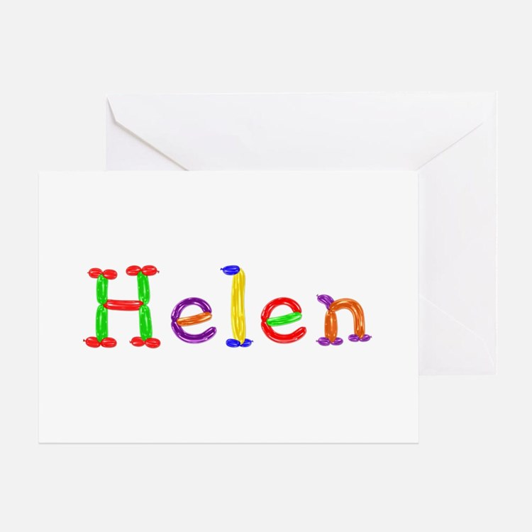 Helen Balloons Greeting Card