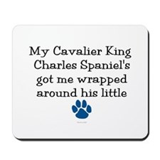 Wrapped Around His Paw (Cavalier) Mousepad