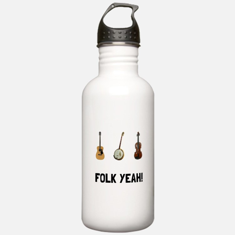 Folk Yeah Water Bottle