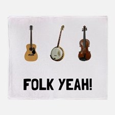 Folk Yeah Throw Blanket