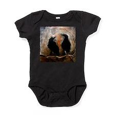 Black Birds Baby Bodysuit