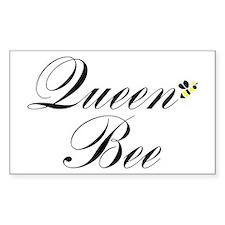 Queen Bee Rectangle Decal