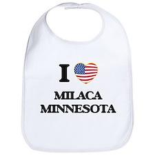I love Milaca Minnesota Bib