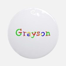Grayson Balloons Round Ornament