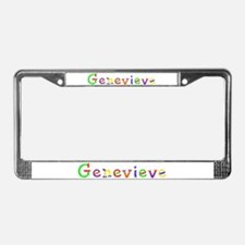 Genevieve Balloons License Plate Frame