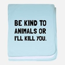 Kind To Animals baby blanket