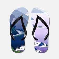 Unique University california Flip Flops