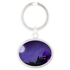 Cute Observatory Oval Keychain