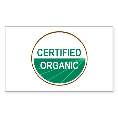 CERTIFIED ORGANIC Rectangle Sticker