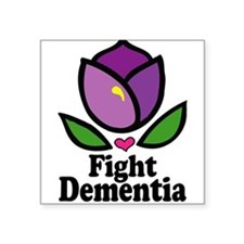 "Cute Alzheimer's disease Square Sticker 3"" x 3"""