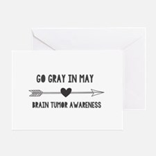 Go Gray In May Greeting Cards