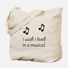 Live In Musical Tote Bag
