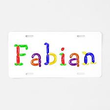 Fabian Balloons Aluminum License Plate