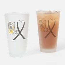 I Fight Brain Cancer Drinking Glass