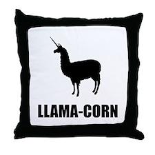 Llama Corn Throw Pillow