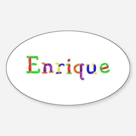 Enrique Balloons Oval Bumper Stickers