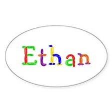 Ethan Balloons Oval Decal