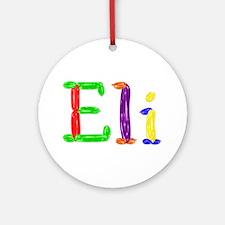 Eli Balloons Round Ornament
