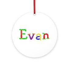 Evan Balloons Round Ornament