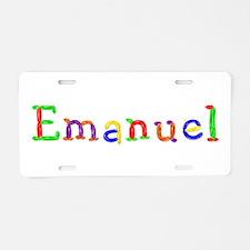 Emanuel Balloons Aluminum License Plate