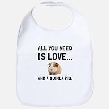 Love And A Guinea Pig Bib