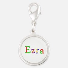 Ezra Balloons Silver Round Charm