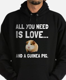 Love And A Guinea Pig Hoodie (dark)