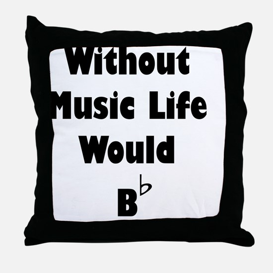 Music B Flat Throw Pillow