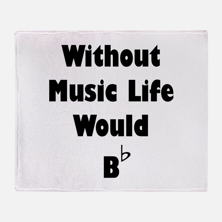 Music B Flat Throw Blanket