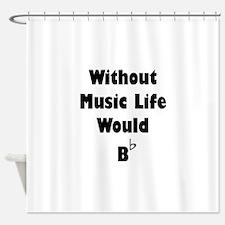 Music B Flat Shower Curtain