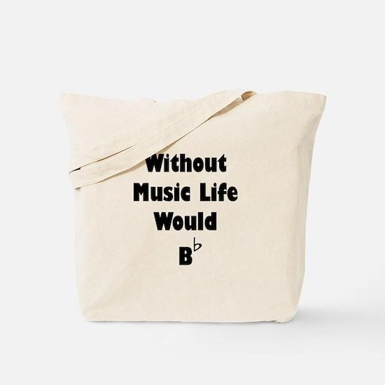 Music B Flat Tote Bag