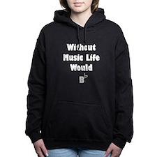 Music B Flat Women's Hooded Sweatshirt