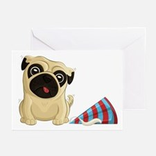 Party Pug Greeting Cards (pk Of 20)