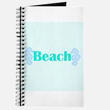 Beach in Teal Seahorses Journal